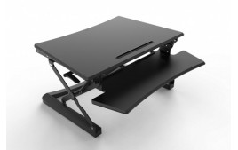 Station assis debout Sit-Stand Desk Riser NOIR