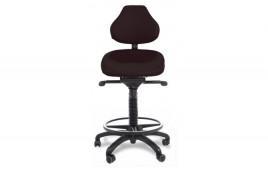 Siège assis debout dynamique revêtement antibactérien avec repose pieds et base polyamide