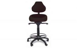 Siège assis debout dynamique revêtement antibactérien sans repose pieds et base polyamide