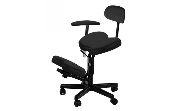 Siège Assis genoux avec dossier fixe et accoudoir amovible réglable