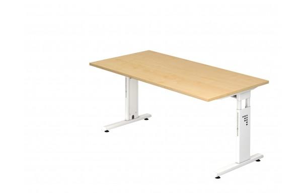 Bureau ergonomique réglable en hauteur cranté 160 cm