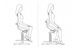 Siège assis debout dynamique semisitting antibactérien