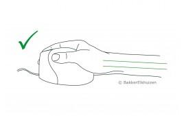 Souris  verticale filaire gaucher
