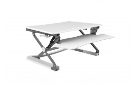 Station assis debout Sit-Stand Desk Riser BLANC