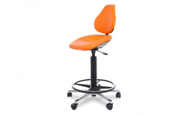 Siège assise fixe avec repose pieds et base polyamide