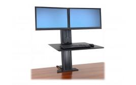 Ergotron WorkFit-S Dual monitor SR noir