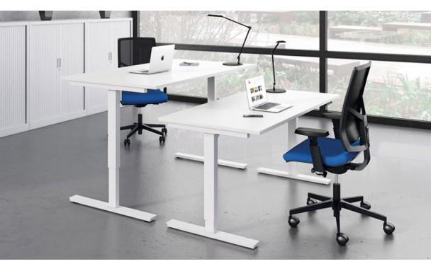 bureau pas cher r glable en hauteur largeur 140cm. Black Bedroom Furniture Sets. Home Design Ideas