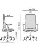 Siège ergonomique Wi Max Tapissé mécanisme shrone autorégulé