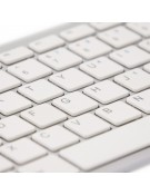 R-Go Clavier Compact AZERTY (FR), blanc, filaire