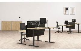 Bureau réglable assis debout manuel AXEL