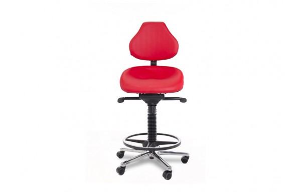 Siège assis debout dynamique semisitting avec alu poli et repose pieds