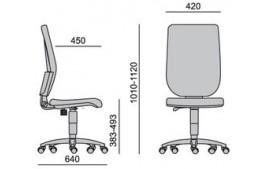 Siège ergonomique Tertio Tapissé contact permanent sans accoudoirs
