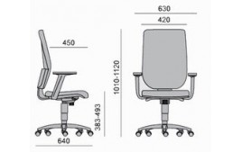 Siège ergonomique Tertio Tapissé mécanisme synchrone accoudoirs 4D
